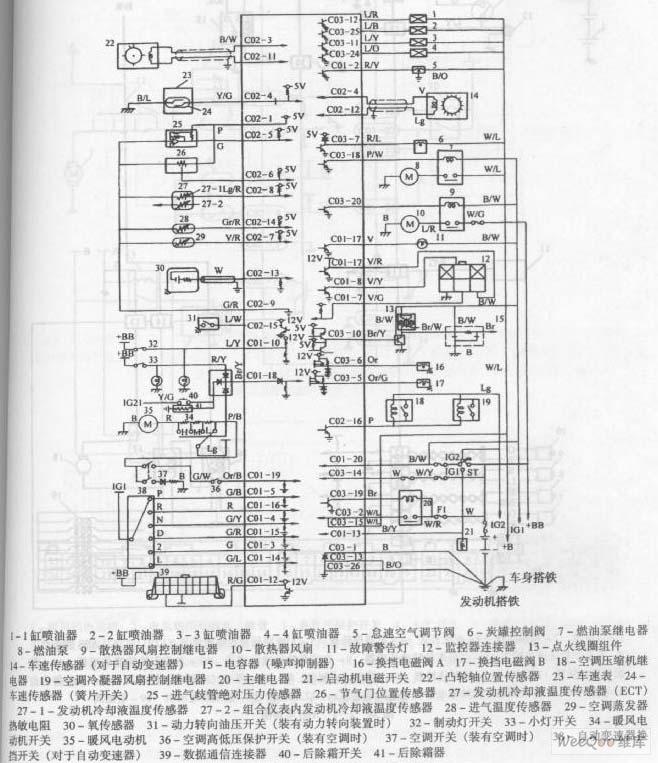 长安羚羊轿车发动机电路图长安 电路图 捷配电子市场网高清图片