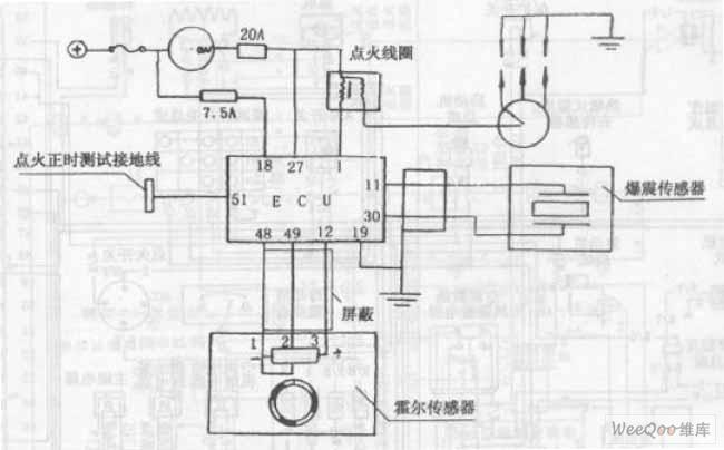 长安奥拓轿车发动机点火系统电路图-长安之星多功能车制冷系统电路图图片