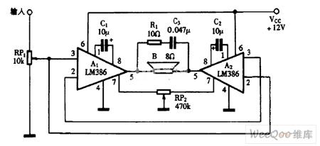 桥式传感器信号放大器AD22055的典型应用电路图图片
