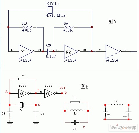 门电路组成的振荡器电路图