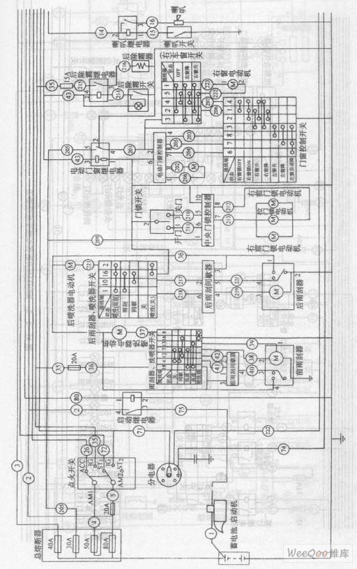 【图】金杯海狮rzh115lb型客车整车电路图一金杯