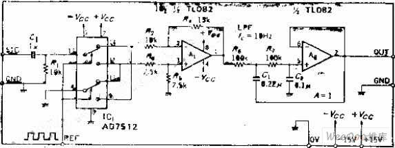 【图】采用模拟开关和差动放大器使电路简化的同步图