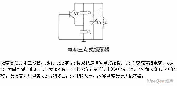 电容三点式_电容三点式LC振荡器电路组成及工作原理简述
