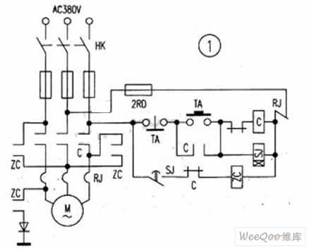 简单实用的电动机能耗制动电路图