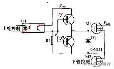 VMOS组成的H桥电机正反转驱动电路图-双向晶闸管电动机控制电路图一图片
