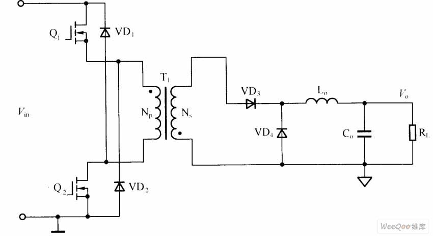 【图】双管反激dc/dc变换器电路图dc-dc