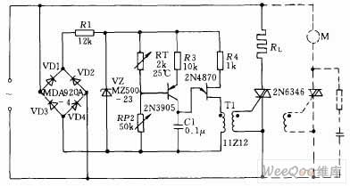 向晶闸管组成的交流调压电路图图片