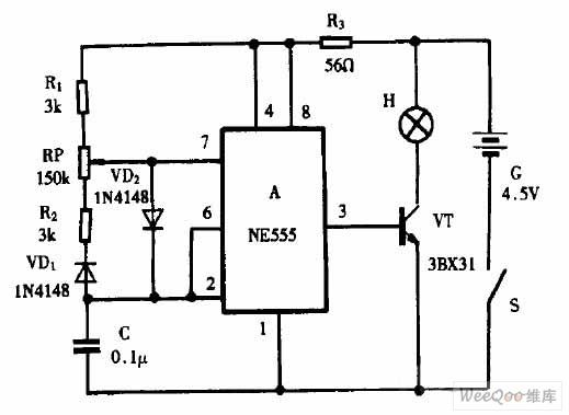 手电筒加装调光器电路图