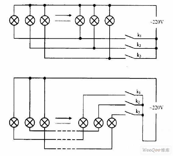 彩灯连接方法电路图