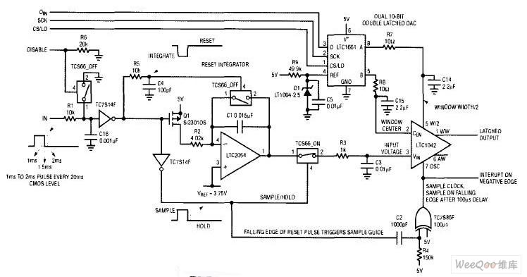 把单脉冲宽度射频控制信号转换成电压的电路