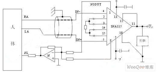 心电检测电路原理图