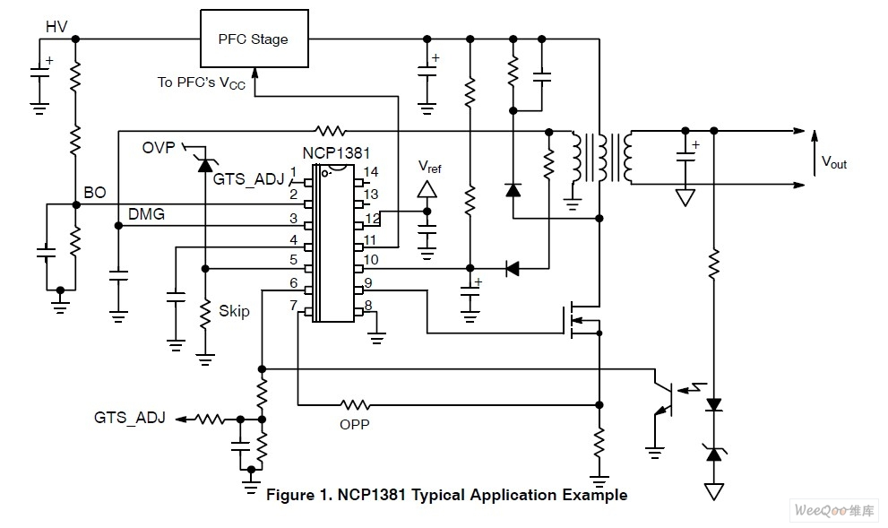 NCP1381设计高功率AC-DC适配器电源电路