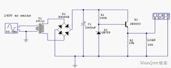 12伏稳压电源电路图图片