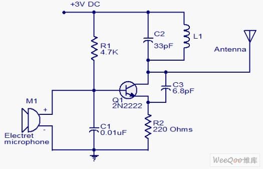 微型调频发射机电路