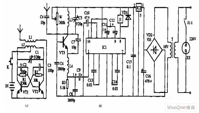 【图】无线电遥控器电路原理图控制电路
