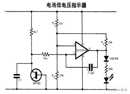 电池低电压指示器