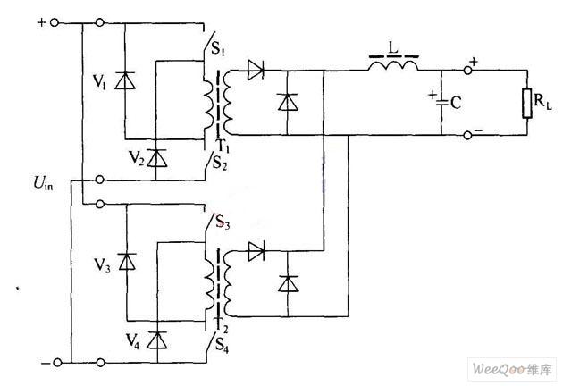 双正激式变换器原理图
