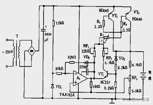 【图】自动断路的6a/12v充电电路充电电路