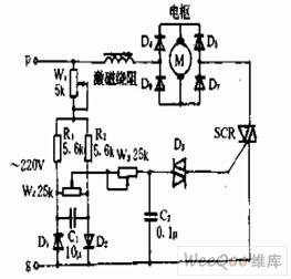 串激电机的转向和转速控制电路