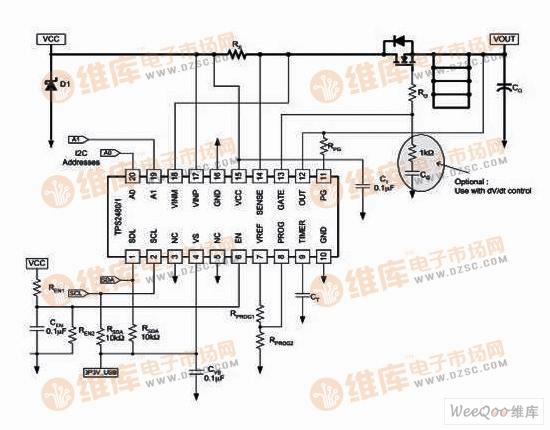TPS2480/81低压应用电路图
