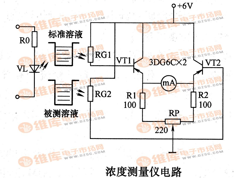 浓度测量仪电路