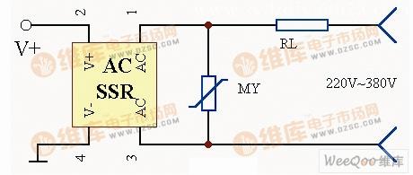 【图】固态继电器过压保护电路图保护电路