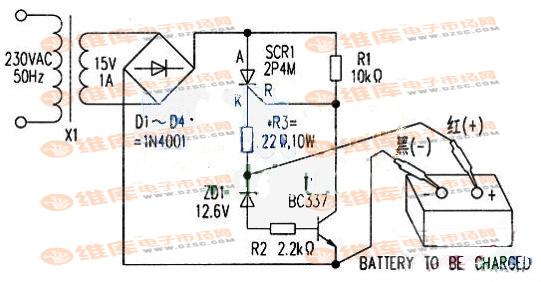 【图】自动电池充电器电路图充电电路