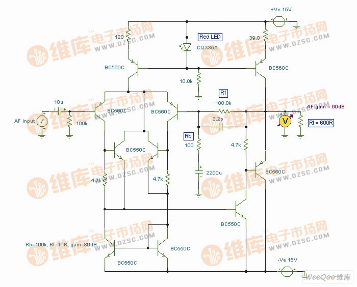 【图】晶体管制作hi-fi前置放大器电路图线性放大