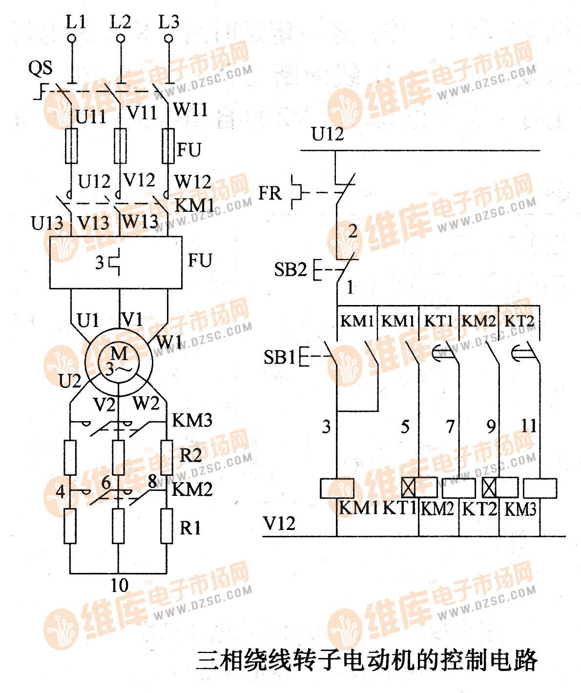 三相绕线转子电动机的控制电路
