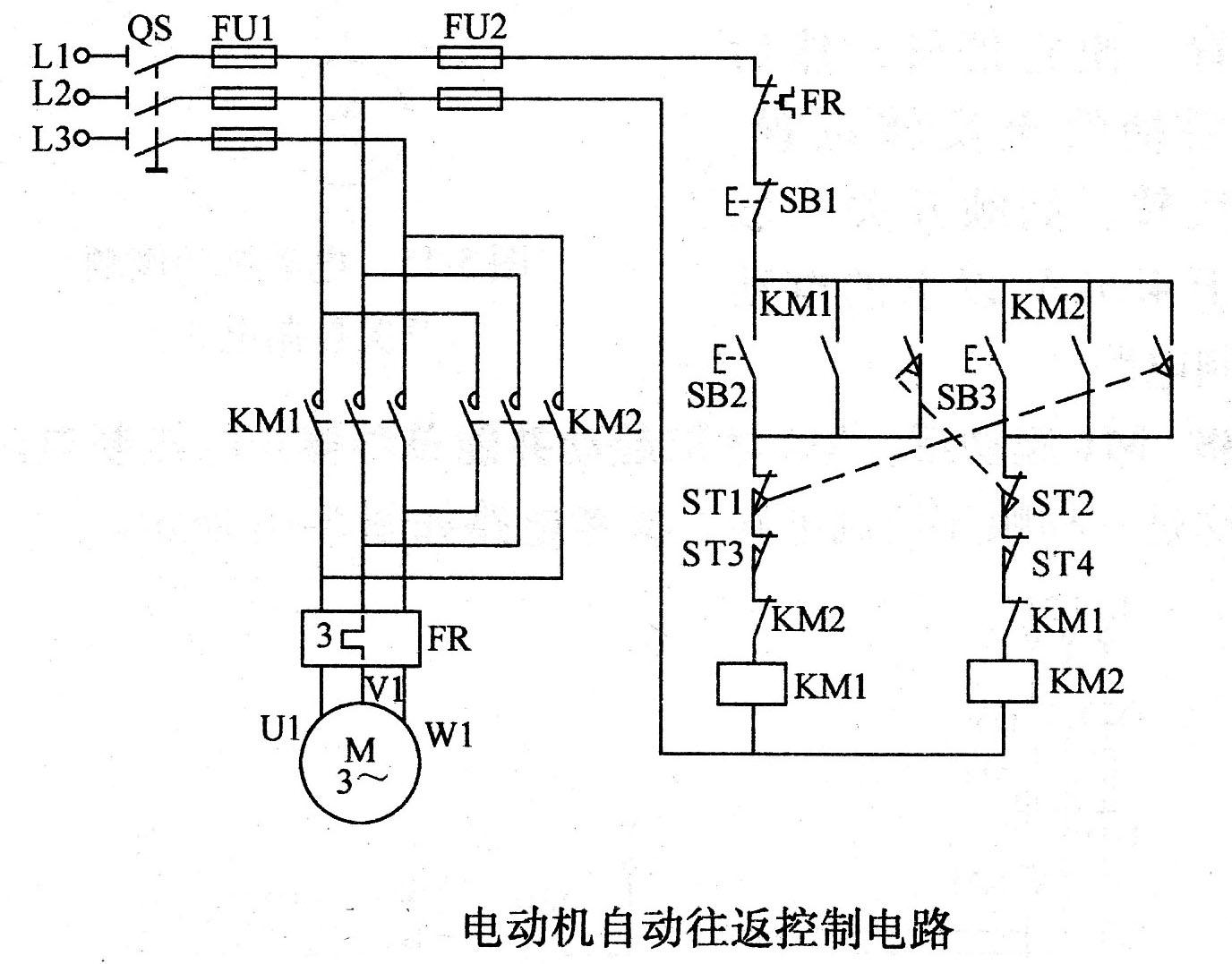 【图】电动机自动往返控制电路电机控制专区