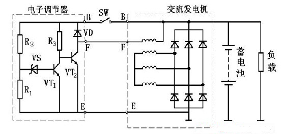 电子调节器基本电路
