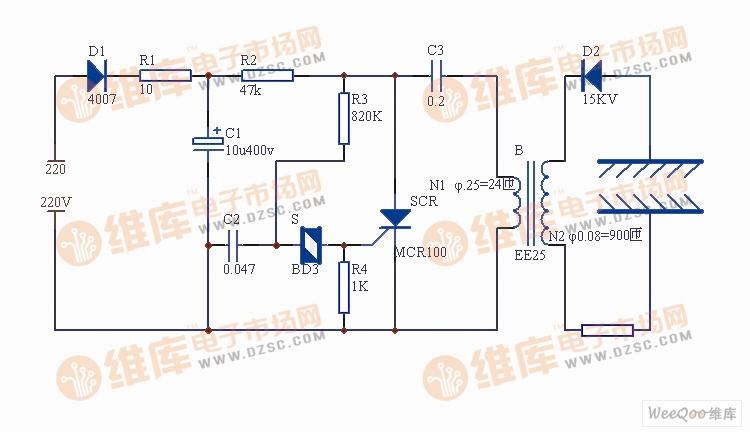 【图】负离子发生器电路原理图信号产生