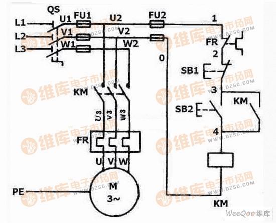 双向晶闸管电动机控制电路图一图片