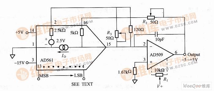±5V双极性输出电路图