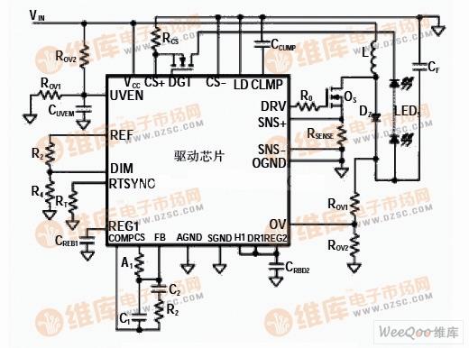 LED汽车头灯驱动电路图LED电路 电路图 捷配电子市场网高清图片