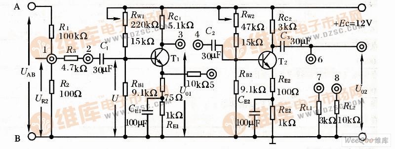 【图】两级阻容耦合放大实验电路图耦合隔离放大
