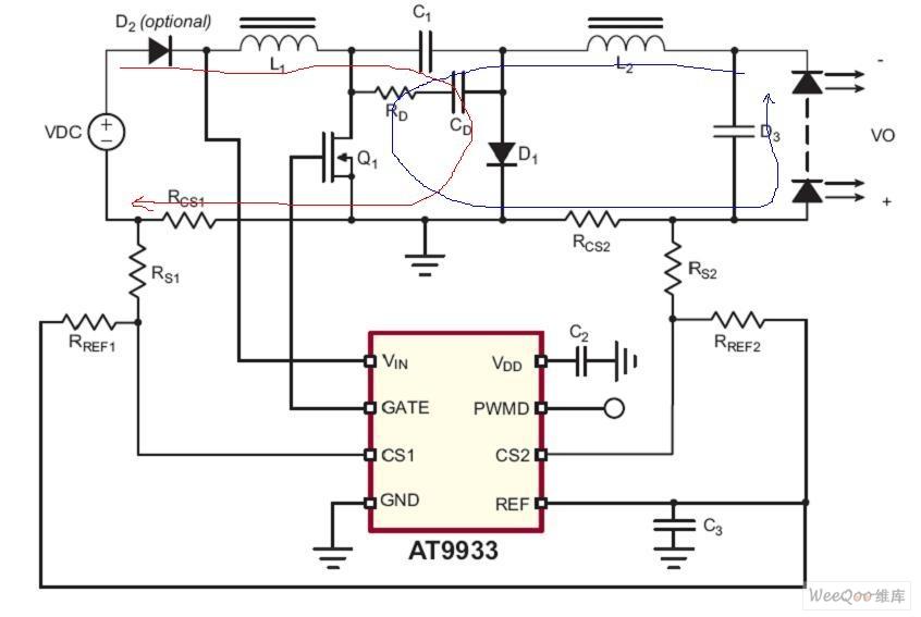 LED驱动芯片AT9933主要特点及应用电路图