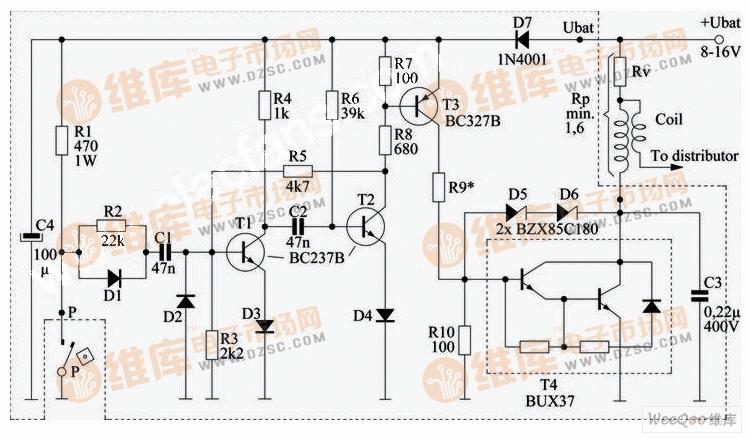 汽车电子点火电路 (Electronic car ignition)