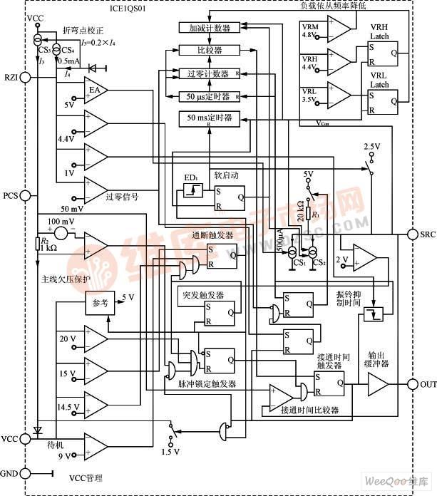 ICE1QS01芯片电路组成图