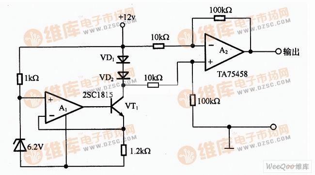 【图】温度传感器应用电路图温度传感电路