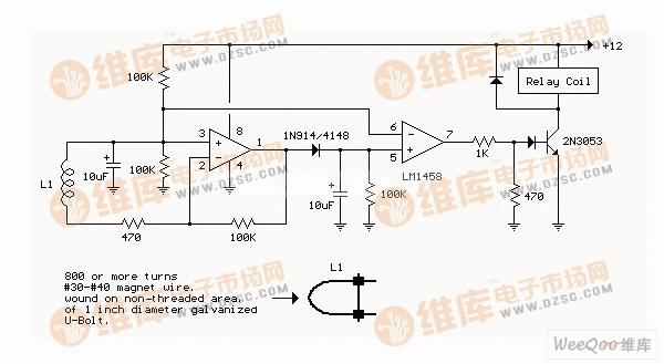 电流交流线路检测电路图