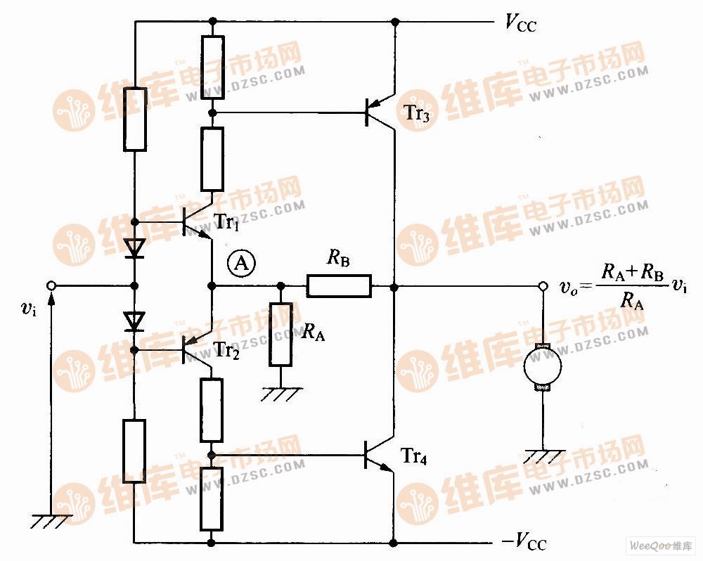 均衡型直流放大电路图-最简易的电桥电路图片