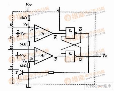 集成电路定时器555内部结构电路图555时基电路 电路图 捷配电子市场
