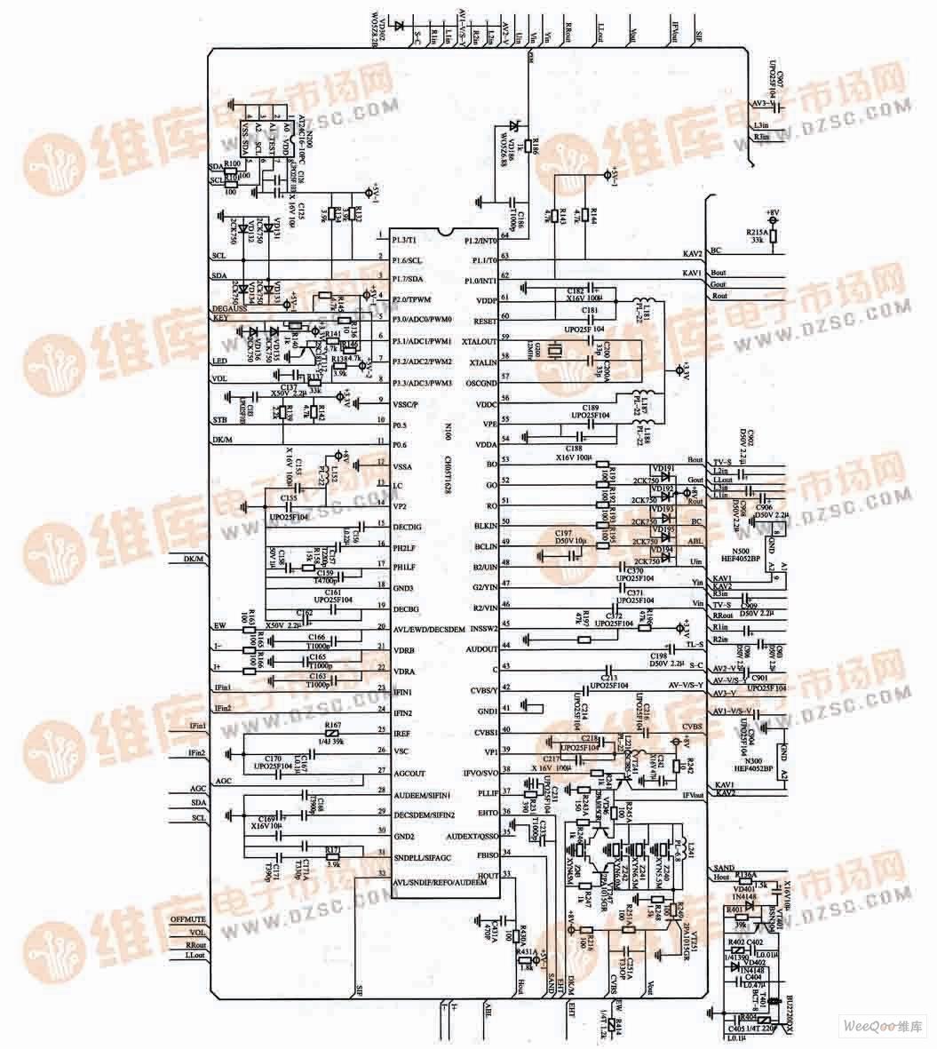 【图】长虹pf29118电视机超级芯片电路图其他资料