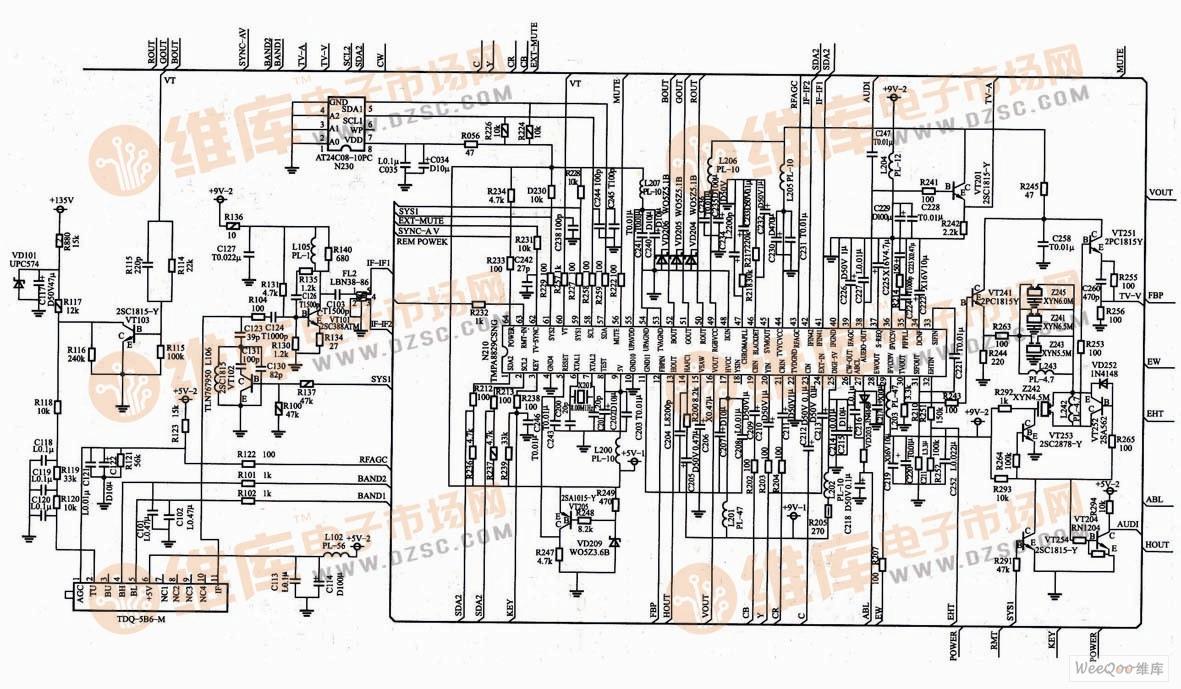 长虹PF2991E电视机超级芯片图