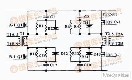 双管双正激变换器的原理电路图