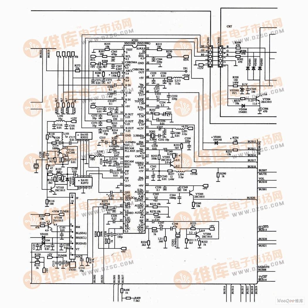 海尔21A8(三洋电源)电视机单片小信号处理电路(二)