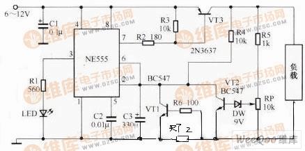 【图】由555电路组成的电源过压保护电路图电源电路