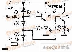 简易的锂电池电量显示器电路图