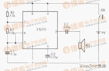 【图】简易的电子门铃电路图555电路专集